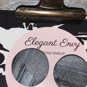 Handmade polymer clay earrings.